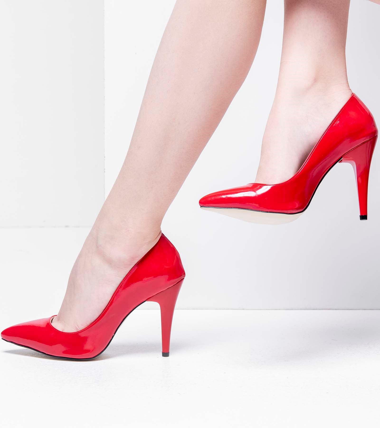 Candy İnce Topuk Rugan Stiletto Kırmızı