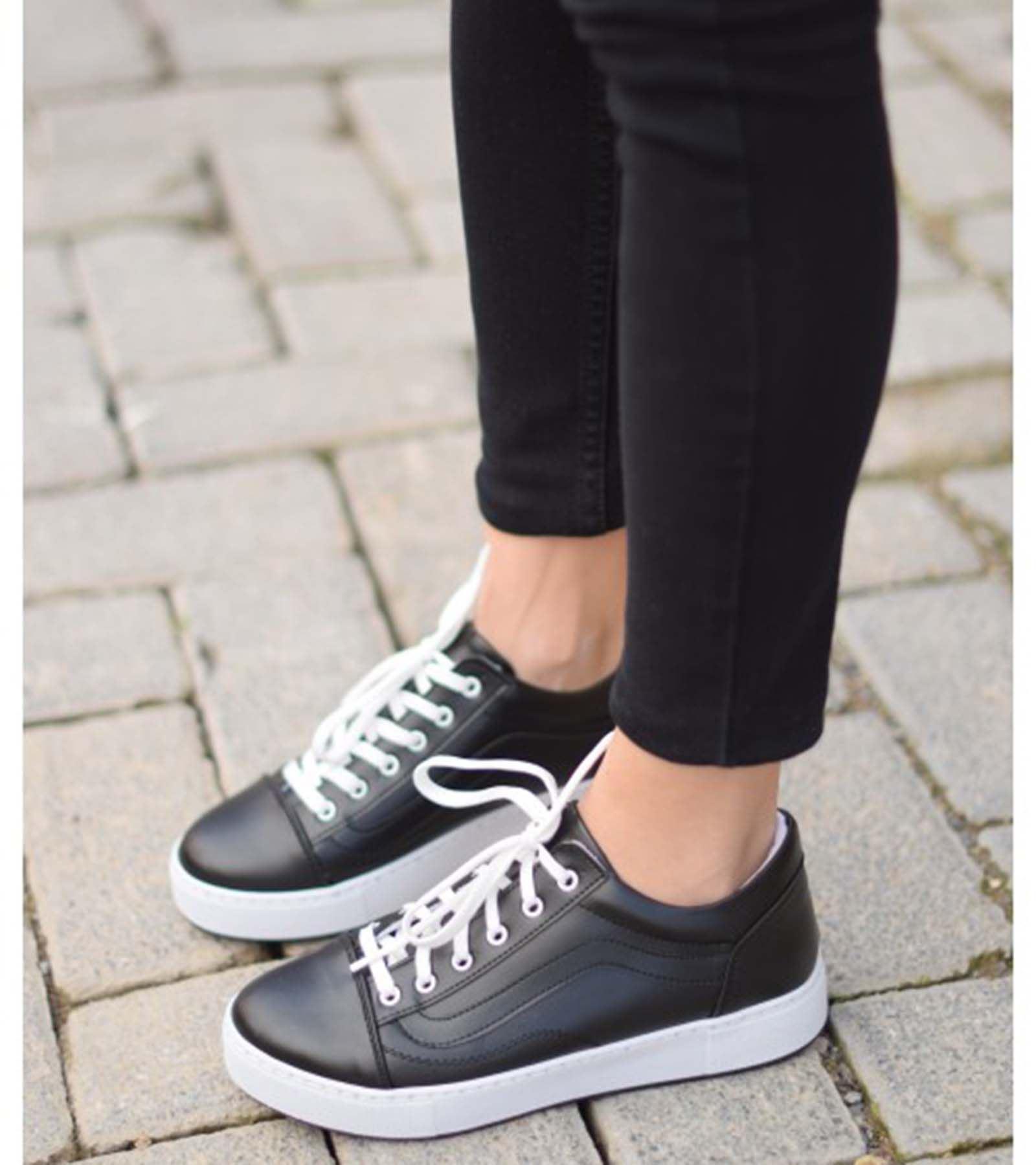 Rossella Günlük Spor Ayakkabı Siyah Deri