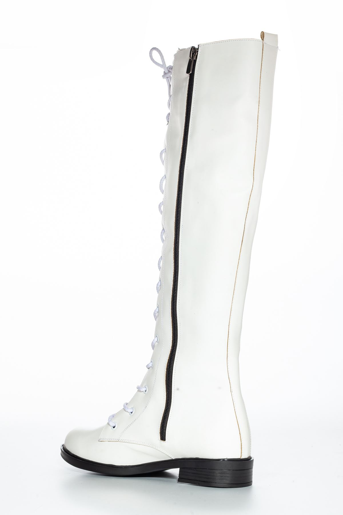 Roza Cilt Çizme Beyaz