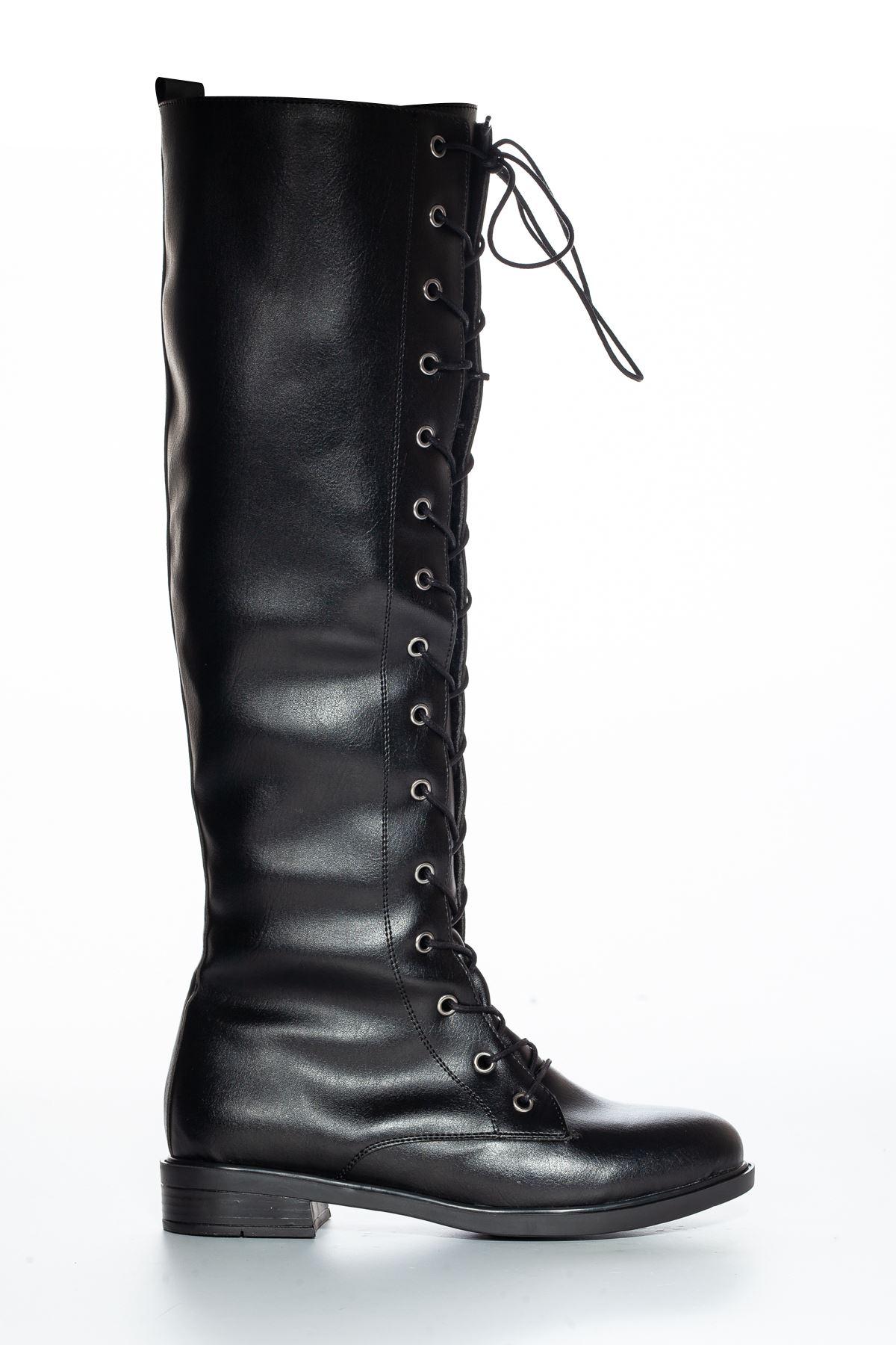 Roza Cilt Çizme Siyah