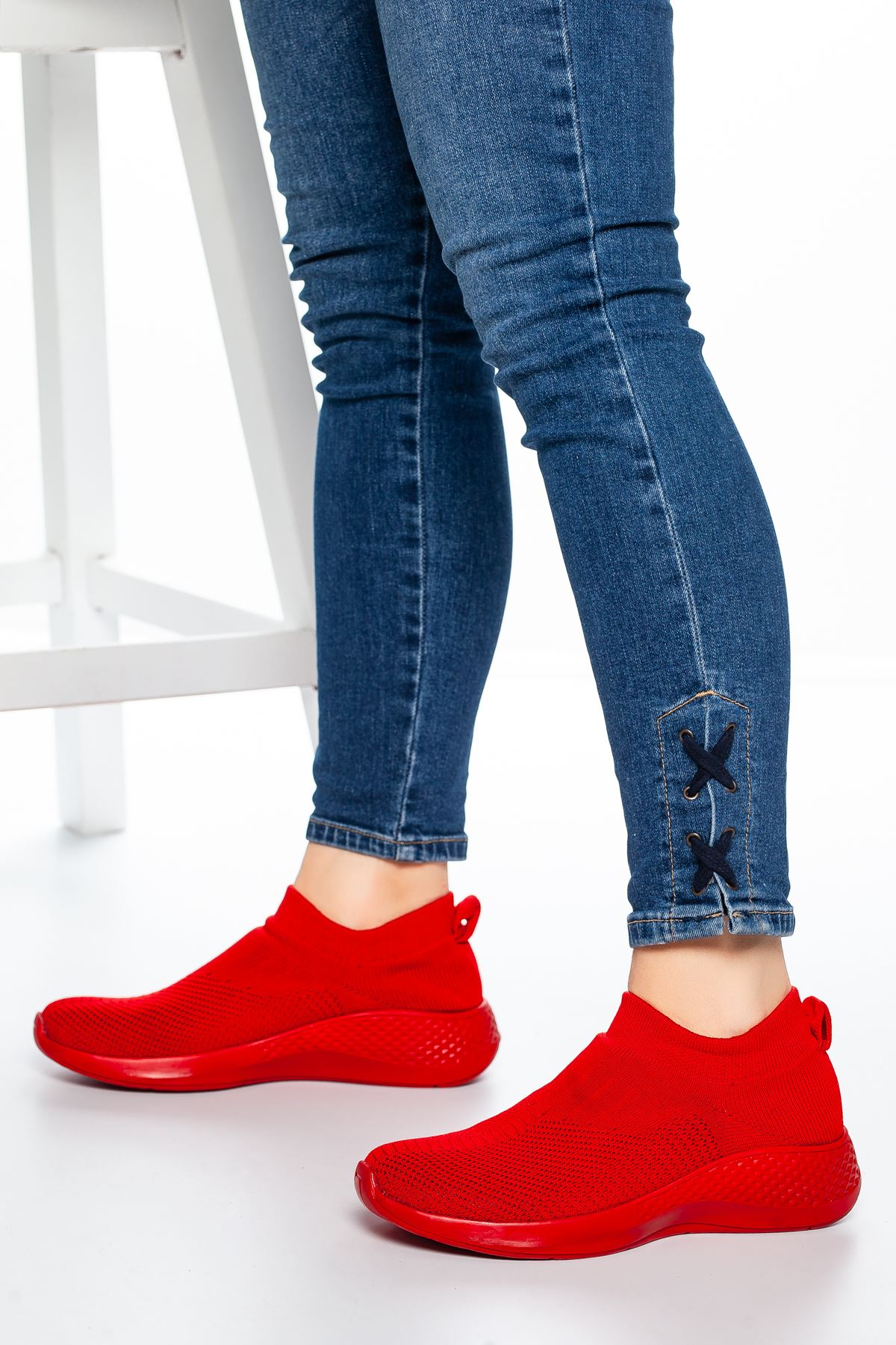 Nolan Lastikli Çorap Spor Kırmızı