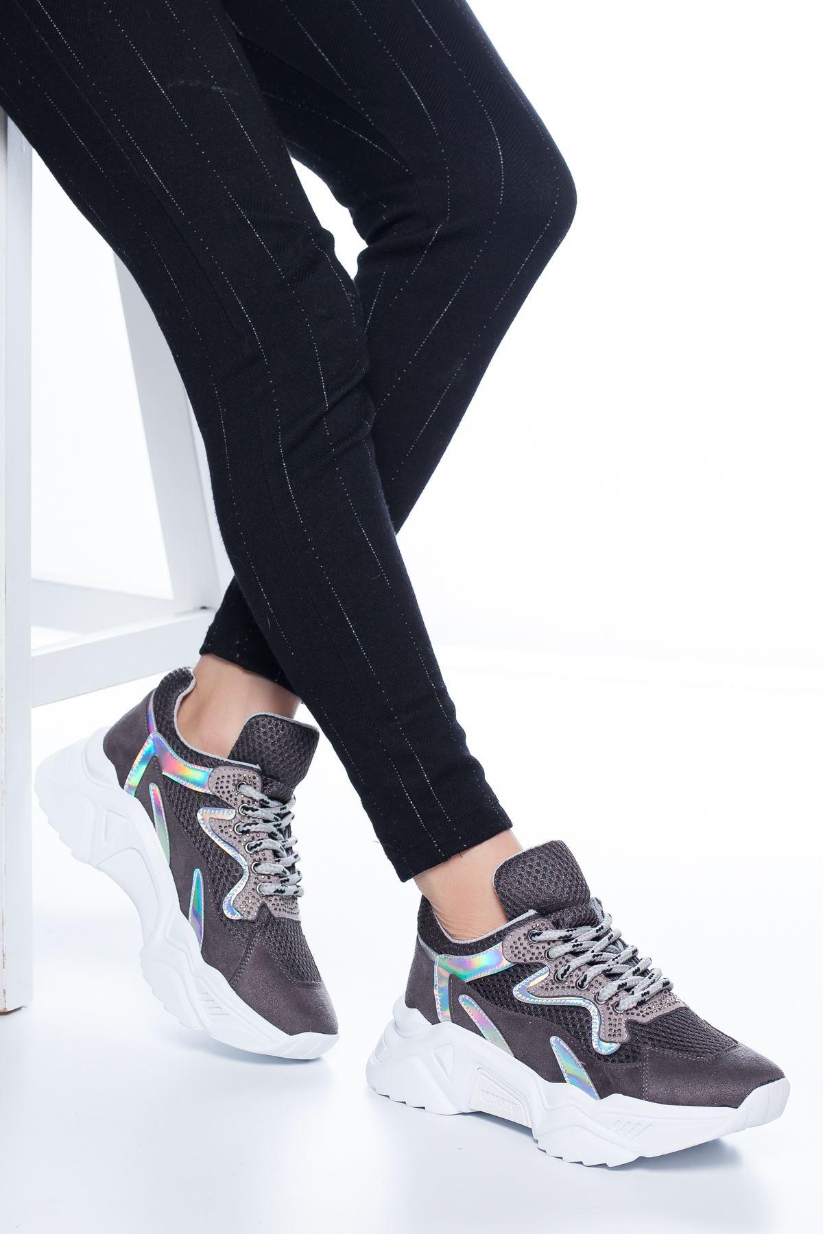 Aira File Detaylı Sneakers Füme