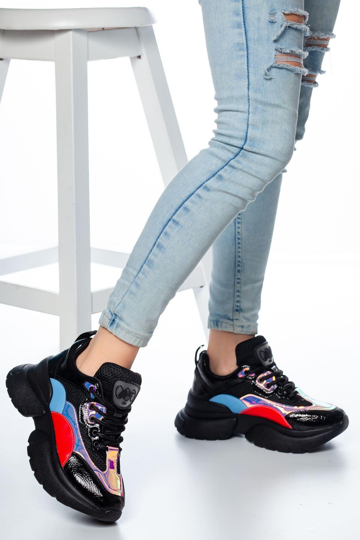 Senro File Detaylı Sneakers Siyah