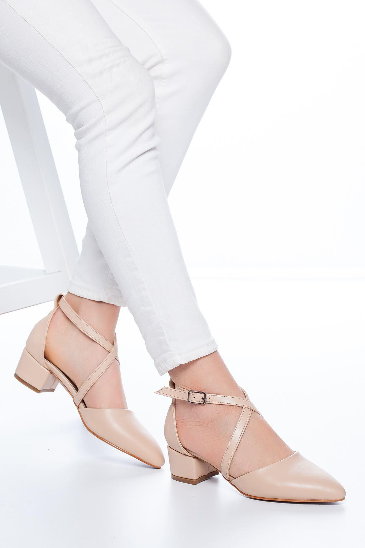 Lexon Topuklu Cilt Ayakkabı Ten