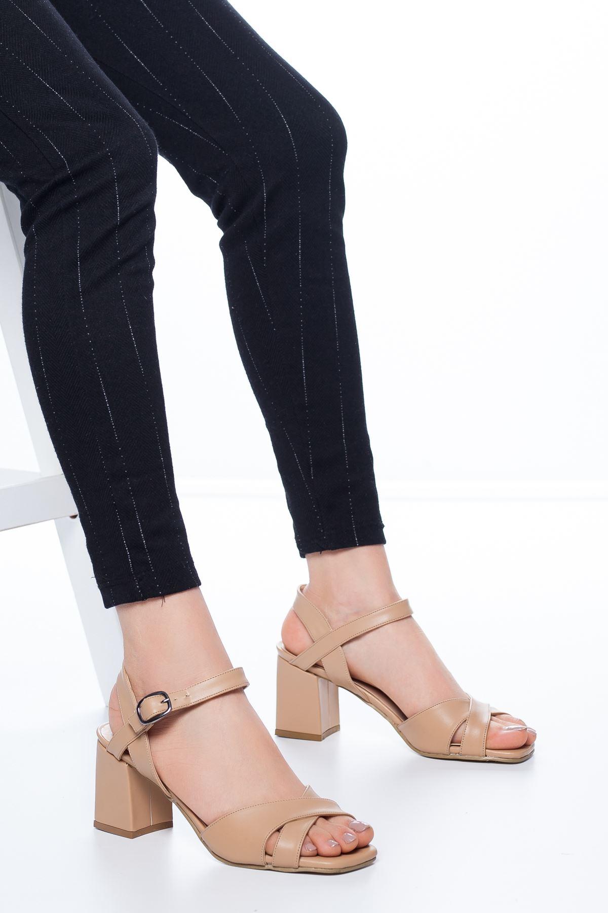 Samy Topuklu Cilt Ayakkabı Ten