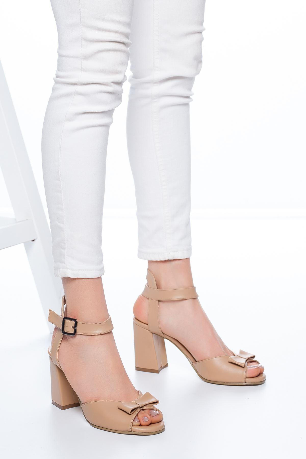 Deborah Topuklu Cilt Ayakkabı Ten
