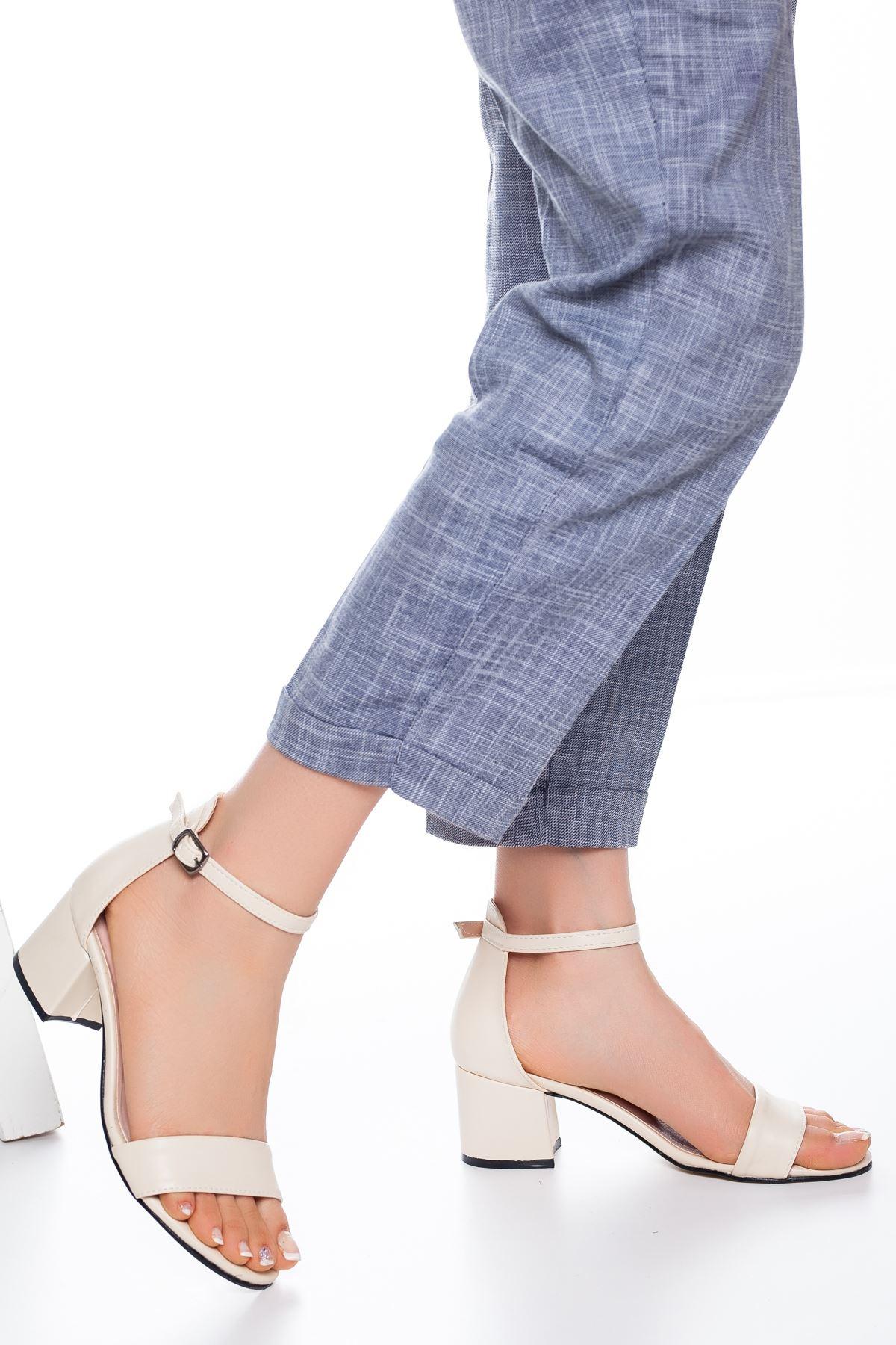 Fioana Topuklu Ayakkabı Ten