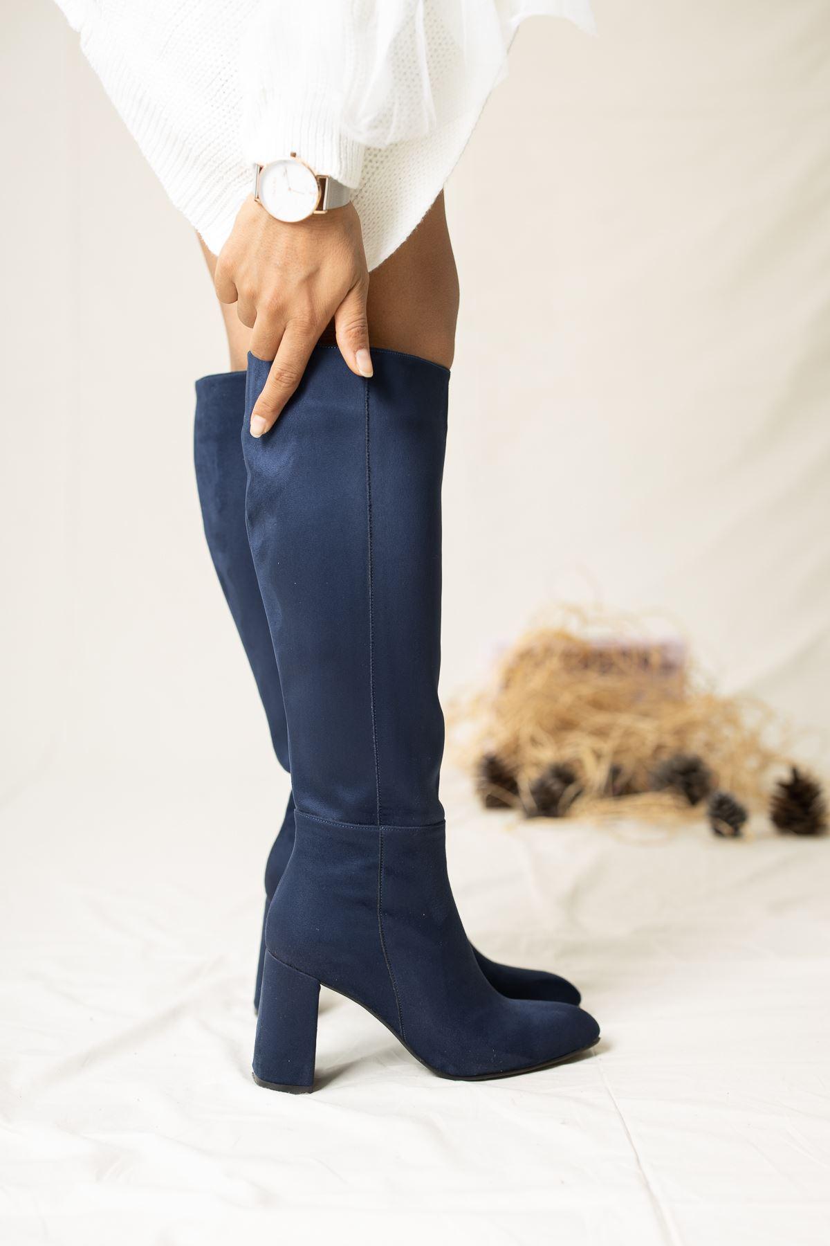 Horse Süet Çizme Lacivert