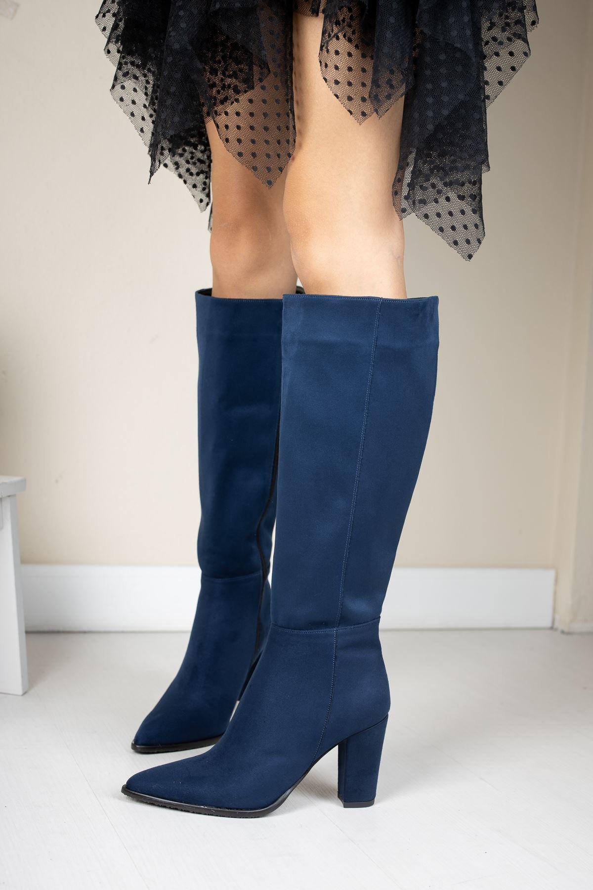 Bambo Süet Çizme Lacivert