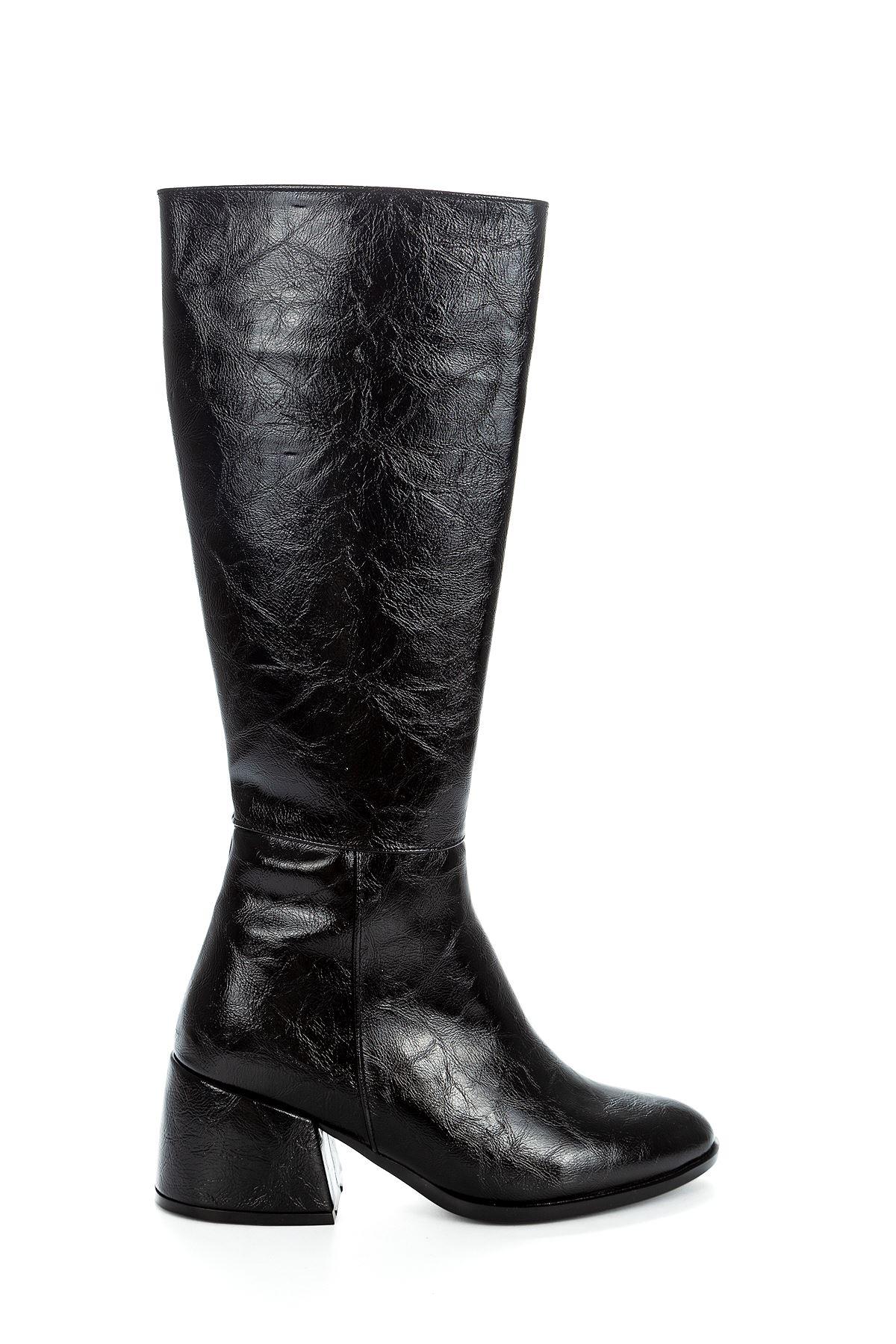 Mezzo Kırışık Çizme Siyah