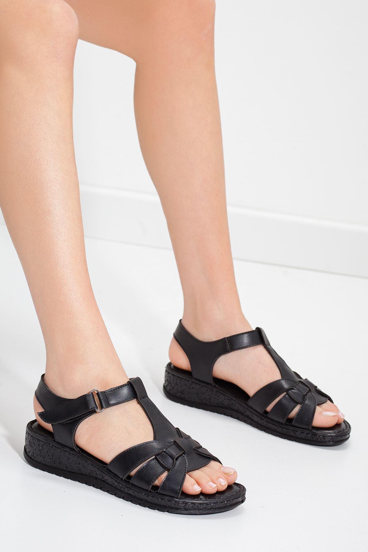AİDA sandalet Siyah