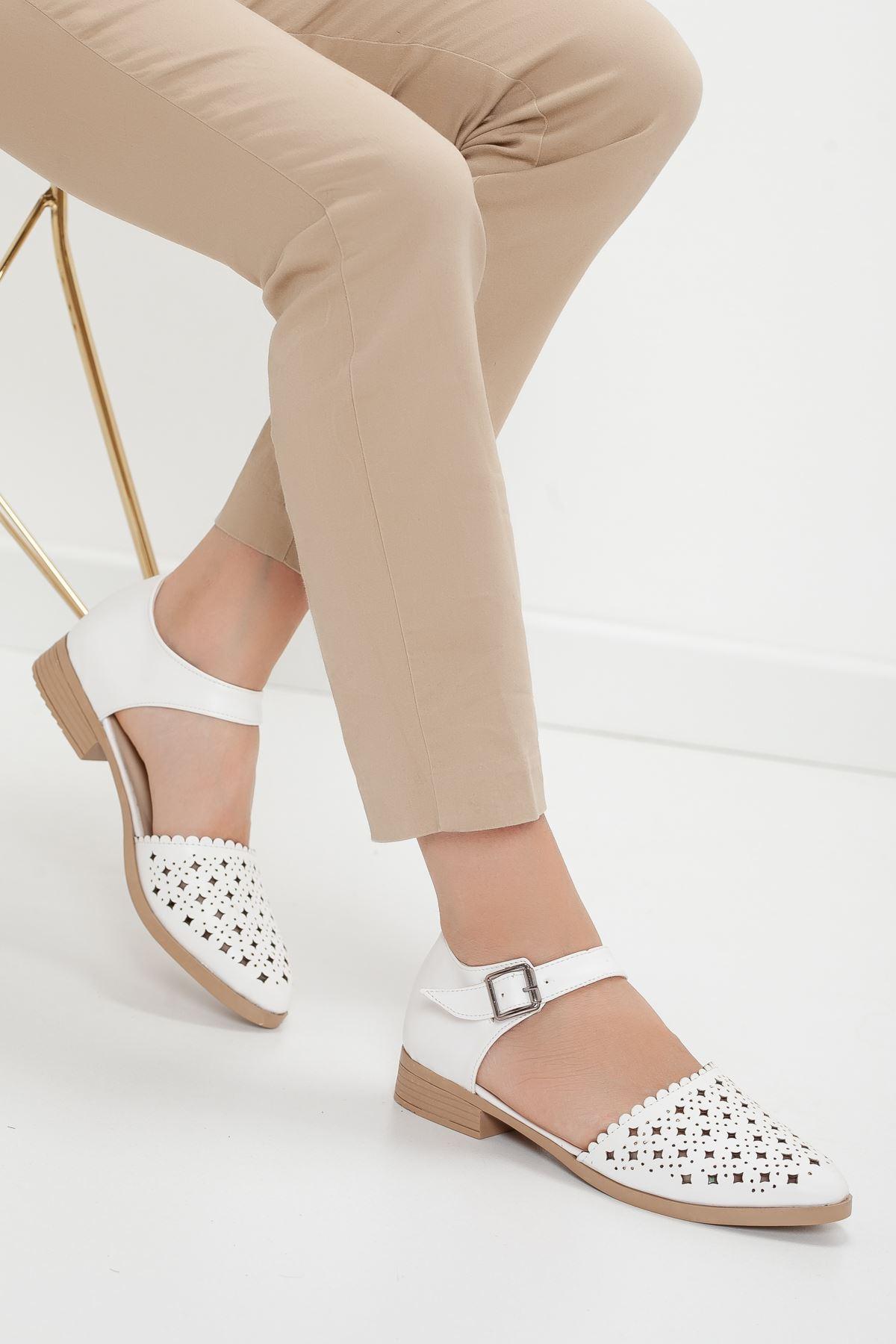 DİABLO babet ayakkabı Beyaz